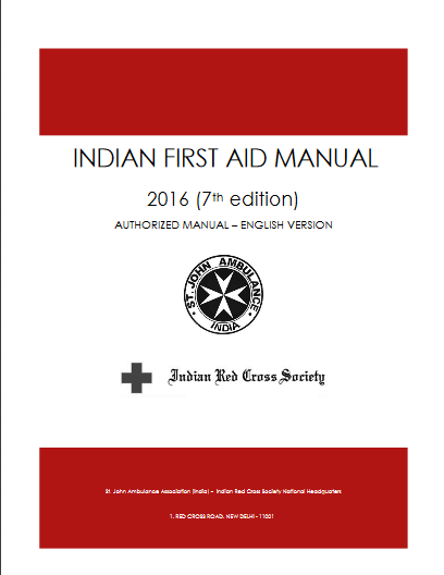 Indian First Aid Manual -2016