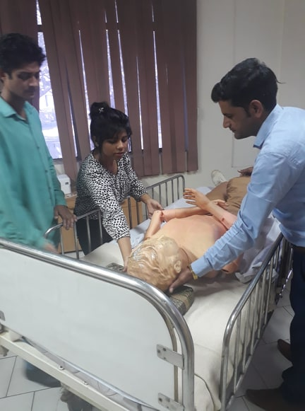 Classes for Home Health Attendant Course are underway at Indian Red Cross Society (NHQ)
