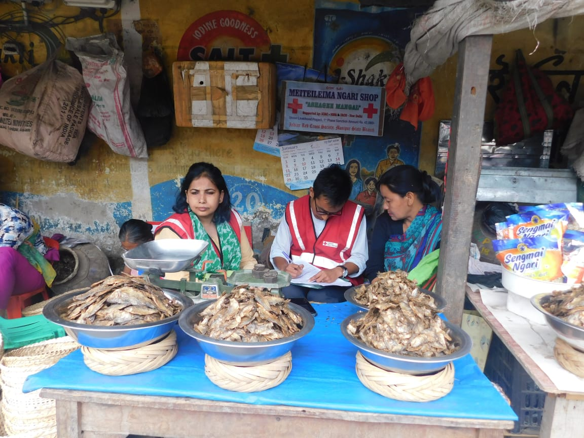 Fremented Fish Shop at Manipur supported under Livelihood Project of IRCS