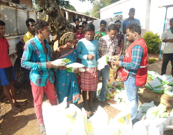 Distribution of seeds in Odisha by IRCS